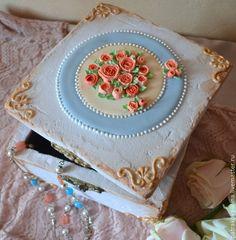 Купить Винтажная пряничная шкатулка. - белый, пряничная шкатулка, подарок на свадьбу, подарок на день рождения