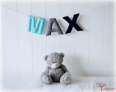Personalized felt name banner  name garland   by LullabyMobiles