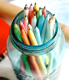 eco-friendly recycled paper pencil set
