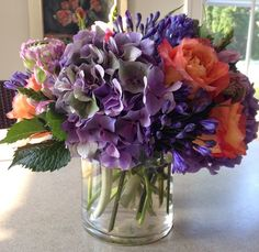Gorgeous hydrangeas, roses, and agapanthus from Bridgehampton Florist!