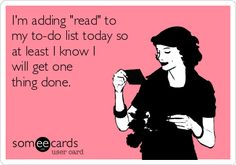 """Adding """"read"""" to the to-do list"""