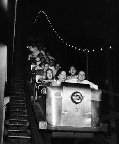 Vintage roller coaster...