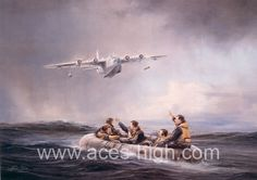 First-Sighting.by Robert Taylor  First-Sighting.jpg Media: Lithograph Size: 20 x 14 inches Release Date: 1983 Downed aircrew often drifted for days in their small inflatable dingies hoping rescue would come. Robert Taylor's painting depicts that first sighting by an Air Sea Rescue Sunderland and the moment of joy of the aircrew in the North Sea.16