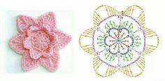 Rose flower crochet pattern