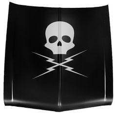 Death Proof Medium 2'x2' Skull and Bolts Wall / Car Decal