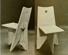 Sillas de emergencia. Pierre Jeanneret