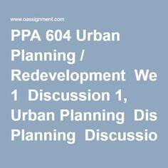 Urban Planning chemistry in economics