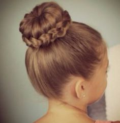 Simple bun with braid |hairstyles for kids|