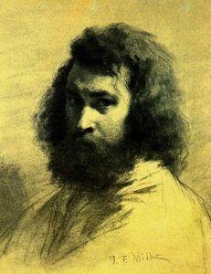 Jean-François Millet - Autoportrait.