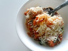 Meatless Mondays: Spaghetti and Meatballs. #vegetarian #recipe