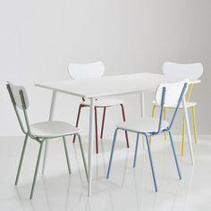 ensemble table et 4 chaises laurin les petits prix - Chaise De Cuisine Retro