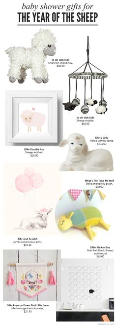 Bondville: Happy Chinese New Year 2015: The Year Of The Sheep gift ideas for babies, and baby shower gifts.