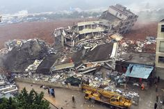 12/20/2015 - Landslide Buries Buildings in China's Shenzhen - at least 18 buildings were buried at an industrial park in the southern Chinese city of Shenzhen.