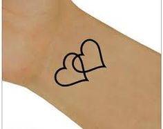 Image result for two hearts tattoo