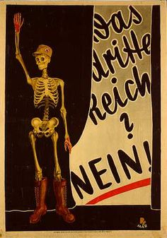 "SPD, election poster 1930 ""The third Empire? NO!"""