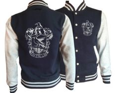 Vintage style Harry potter Inspired Ravenclaw House varsity jacket with silver emblem in front and back. by iganiDesign on Etsy Can I buy this for Nic, because he needs it. Mode Harry Potter, Estilo Harry Potter, Harry Potter Outfits, Ravenclaw, Harry Potter Kleidung, Harry Potter Accesorios, Fandom Fashion, Emblem, Vintage Stil