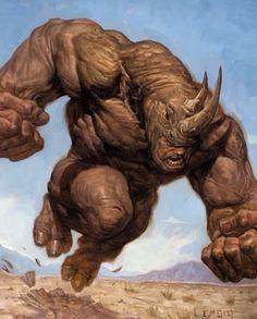 Aleksei Sytsevich aka The Rhino Art by Spiderman Kunst, All Spiderman, Rhino Spiderman, Marvel Comic Character, Marvel Characters, Character Art, Character Design, Arte Dc Comics, Marvel Comics Art