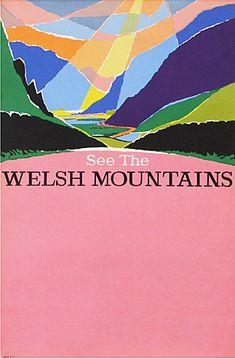 Harry Stevens welsh mountains bus poster