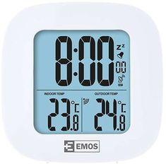 Bezdrátový teploměrEmos E0127 je praktickým doplňkem do každé domácnosti. Bezdrátové čidlo má dosah 30 metrů. Měří vnitřní i vnější teplotu, navíc zobrazuje datum a čas řízený signálem DCF. Můžete nastavit i funkci budíku. Díky velkým číslicím a modrému podsvícení jsou záznamy dobře čitelné za všech podmínek. Můžete si vybrat mezi 12 a 24hodinovým formátem času a mezi...