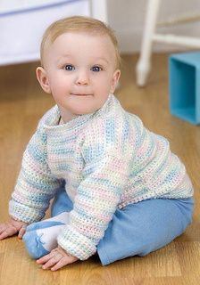 2c36c708ddc26b Bouncing Baby Pullover Free Crochet Pattern