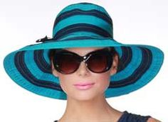 This is the hat I would wear with the navy, turquoise dress