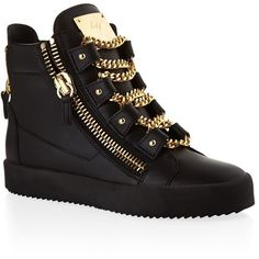 Giuseppe Zanotti Lovejoy High-Top Sneaker | Harrods ($1,010) ❤ liked on Polyvore featuring shoes, sneakers, high top shoes, giuseppe zanotti, giuseppe zanotti sneakers, hi-tops and high top trainers