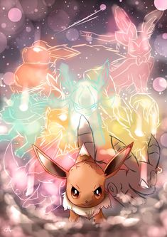 Day 239 - Eivui | イーブイ | Eevee Eevee's genes are unstable and have the capability of undergoing changes immediately due to different energy radiating from certain specific sources. There may be more evolutions not currently known. (P.S. New Pokémon...