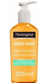 غسول نيتروجينا للوجه واسعاره في مصر Neutrogena Visibly Clear Acne Face Wash How To Treat Acne Clearer Skin