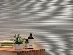 panneau mural décoratif en relief avec figure géométrique blanc neige et meuble…