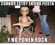 El marciano quiere rock!