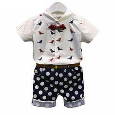 61f10fccd3c Birds   Dots Boy Set. Infant ClothingGirl ClothingChildren ClothingClothing  SetsOutfits ...