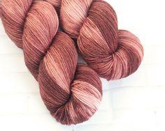 Mahogany - MCN Sock Yarn - Hand Dyed Brown Yarn - Merino Cashmere Yarn -Fingering Hand Dyed Yarn -MCN Sock Yarn - Hand Dyed 4ply Yarn by ClementineAndThread on Etsy