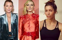 Celebrity a ich kozmetické triky Red Leather, Leather Jacket, Catherine Zeta Jones, Jessica Biel, Julia Roberts, Cate Blanchett, Emma Stone, Nicole Kidman, Miranda Kerr