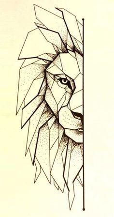 Lion tattoo line art 40 new ideas - lion tattoo line art 4 . - Tattoo Lion Line Art 40 New Ideas – Tattoo Lion Line Art 40 New Ideas – - Geometric Lion Tattoo, Geometric Drawing, Geometric Lines, Geometric Tattoo Drawings, Tattoo Abstract, Geometric Sleeve, Origami Tattoo, Leo Tattoos, Animal Tattoos
