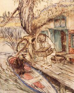 "Arthur Rackham, ""Wind in the Willows"" 1940"