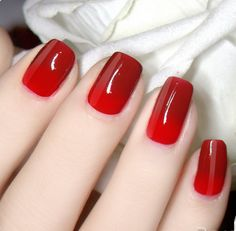 Thermal Color Changing Nail Polish - Wine Red to Red # 23807