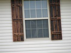 These rustic shutters are a beautiful and unique way to dress up a ...