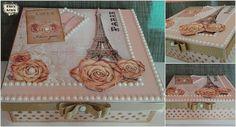 """Caixa mdf """"Paris"""" Torre Eiffel #mdf #artesanato #craft #arteévida #instalike  #ideiascriativas #idea #criatividade #criar #paris #artesanatoemmdf #detalhes  #inspiration #inspiracao #arteemfoco #personalizados #biasanttosz #word #rosa #torreeiffel #caixamdf"""