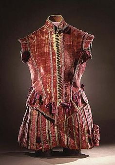 Clothing of Spanish nobleman Spanish man's doublet and trousers, ca 1575, LACMA