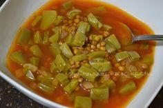 Sopa de lentejas con nopales estilo #Queretaro