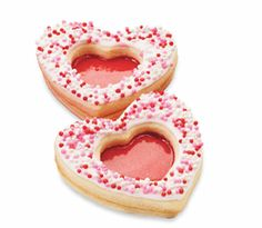 Sparkling Heart Cookies #Valentine