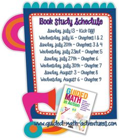 On the Go Teacher Mama: Guided Math in Action Book Study: Chapter 9 Daily 5 Math, Study Schedule, Second Grade Math, Math Workshop, Book Study, Guided Math, Teaching Math, Teaching Ideas, And So The Adventure Begins
