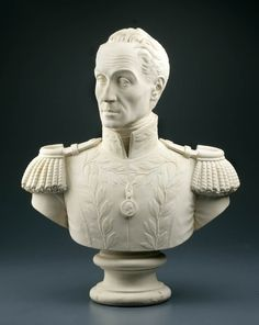 July 24, 1783: Birthday of Simón Bolivar (1783-1830).  Painted plaster bust, 1831, by Pietro Tenerani.  Gift of Mr. Alexander H. Stevens, M.D.  NYHS Object Number 1847.3.