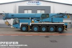 Used telescopic crane available at Pfeifer Heavy Machinery. Item Number PHM-Id 07341, manufacturer TEREX-DEMAG, model AC100, year of construction 2000, kilometers 117076, hours 7592, hours carrier 7592, h ours superstructure 14229, loading (lifting) capacity (kg) 100000, boom length maximum (m) 50, Fuel Diesel. More cranes at www.pfeifermachinery.com.