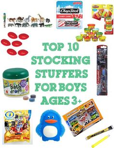 Top 10 Stocking Stuffers for Boys Ages 3+ | Stir the Wonder #kbn #Christmas #giftguide #boys #stockingstuffers