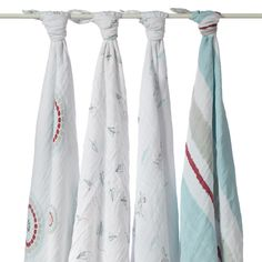 Aden & Anais - Single Layer Muslin Wraps (4 Pack) at West Coast Kids