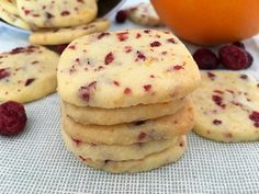 Easy orange and blueberry cookies - Post: Easy orange and blueberry cookies -> cranberry orange cookies, easy cookies, homemade cookies - Cranberry Orange Cookies, Blueberry Cookies, Cookie Recipes, Dessert Recipes, Homemade Cookies, Biscuit Recipe, Cooking Time, Chip Cookies, Sweet Recipes