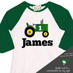 4th 2nd 3rd Tractor and Trailer Birthday Shirt 1st 5th Embroidered