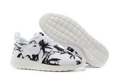 Groothandel Voor Nike WMNS Roshe Run Palmboom Schoenen Wit Zwart[Dames_Schoenen]