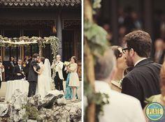 Wonderful Ceremony in the Chinese Scholars Garden - Jena and Josh's wedding at Celebrate Snug Harbor
